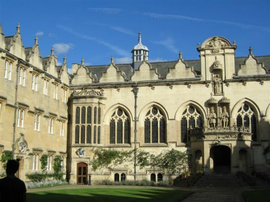 an Oxford college quad